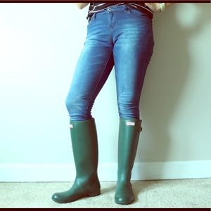 Tall Green Hunter Rain Boots, Great Used Condition